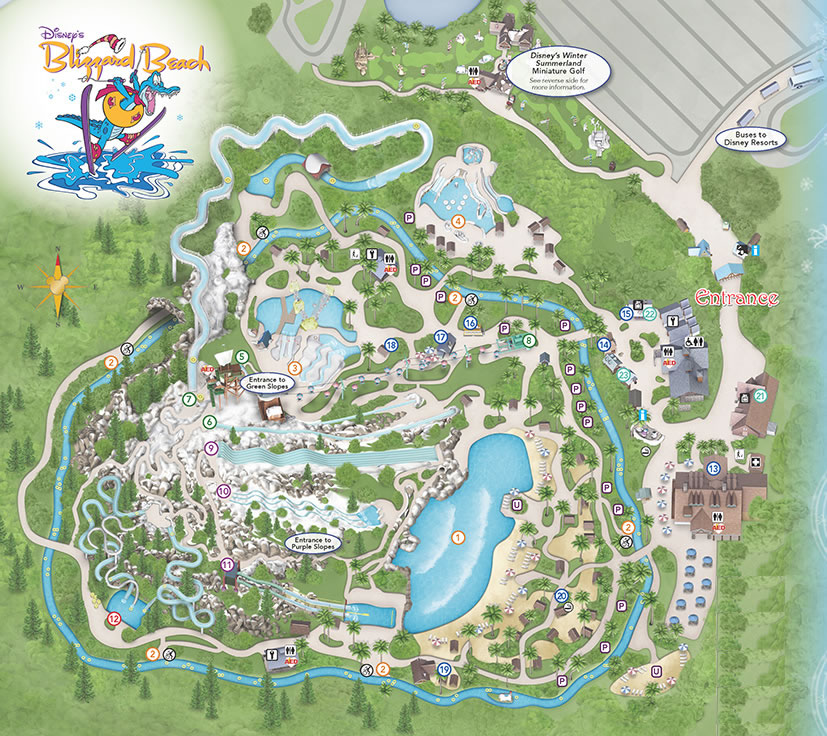 Map Of Blizzard Beach Orlando Blizzard Beach   Information and Guide including Park Map