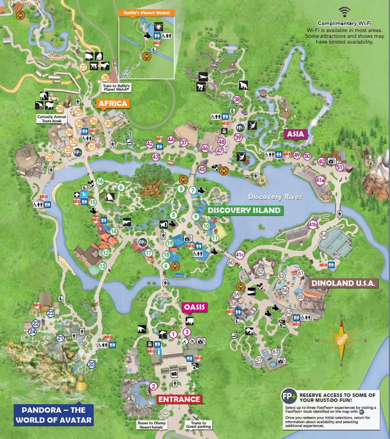 Disney\'s Animal Kingdom - Information, Map, Attractions Guide