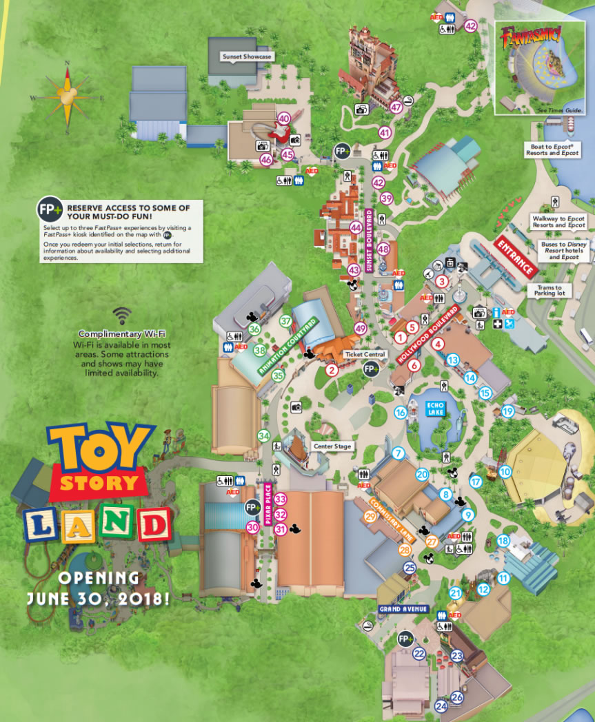 Disney World Map Hollywood Studios.Hollywood Studios Disney World Park Information And Park Map